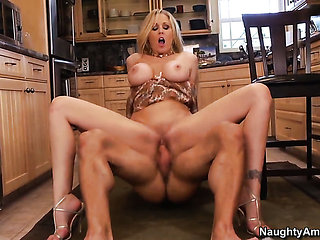Julia Ann with round booty and trimmed snatch is addict...