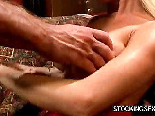 Big Boobed Stockings Babe