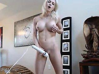 Blonde Webcam Goddess - Another Hitachi Orgasm