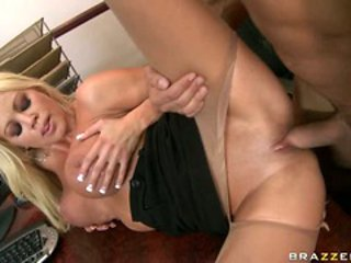 Nikita Von James go all the way with her boss