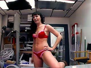 Dana De Armond gets her muff banged in the back room
