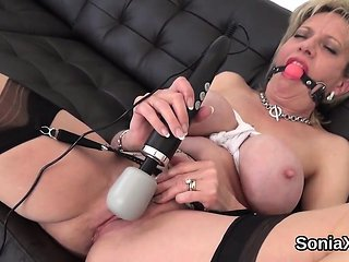 Adulterous british mature lady sonia flaunts her huge h...