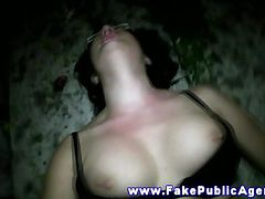 Sexy pulled european amateur outdoor sex