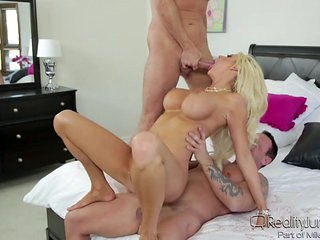 courtney enjoys two horny cocks @ dp my wife with me #07