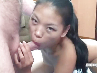 Asian Olivia is getting fucked in her tight ass