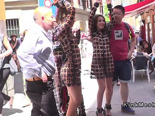 Female ###s in femdom walked in public