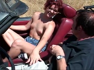 Redhead Kali Stylz Fucks Man In His Convertible