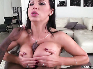 Brunette Nikki Benz with juicy booty has great sexual e...