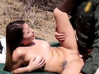 Teen ass fuck creampie and girl almost caught masturbat...