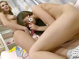 Beautiful lezzies playing together