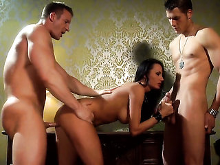 Alektra Blue sucks the jizz out of cock