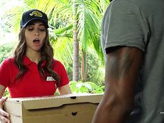 Pizza Girl Riley Reid Dp'd And Gangbanged