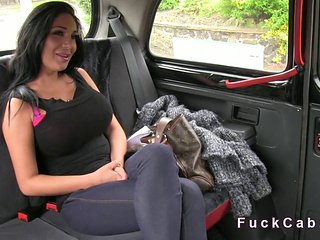 Busty Beauty Banged In A Cab In Public