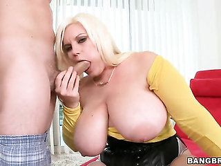 Blonde Tiffany Blake and horny guy have whole lot of f...